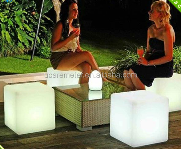 Illuminated LED Cube Seat For Decoration LED Cube <strong>Lighting</strong> Up Chair led cube waterproof