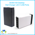 Multi-function 5 USB Ports Wall USB Travel Charger 5V 10A wall charger