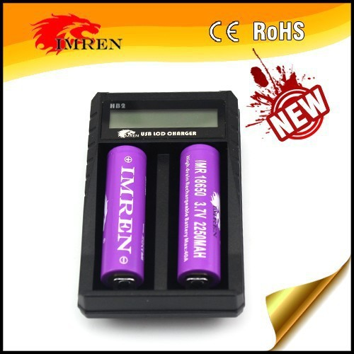 LCD IMREN HB2 2 slot AA/AAA NI-MH smart battery adapter usb charger,USB charger