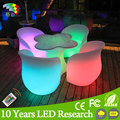 Romantic Free Combination illuminated led furniture led table led chairs for wedding &Banquet
