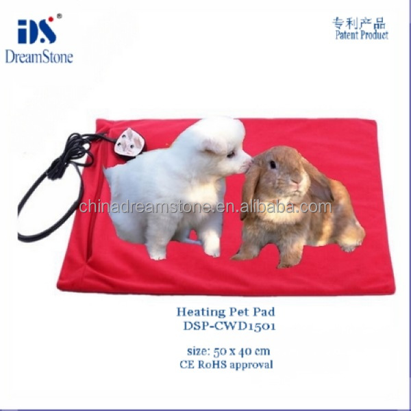 Hot selling 12v infrared heated pvc dog bed with washable cover