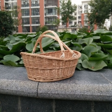 Movable handle peanut wicker basket 3 tier wicker basket with Movable handle