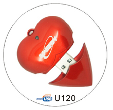 Novelty Gift USB Flash Drive Plastic Heart Shape 4GB USB Flash