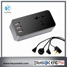 3 pin 10A UK socket plus 4.5A 3 usb television air-condition socket power strip PC computer using with 1.2m AC cable