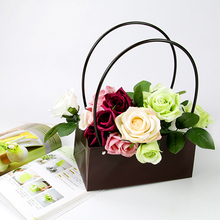 Waterproof PVC plastic material flower display storage box with carry handle
