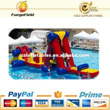 Very popular inflatable water obstacle courses, inflatable pool toys