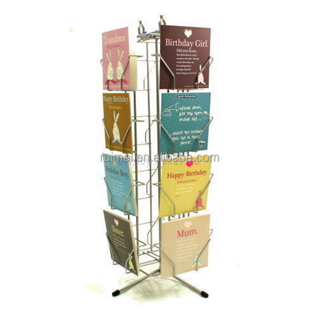 Rotatable Floor-standing Business Card Metal Display Stand