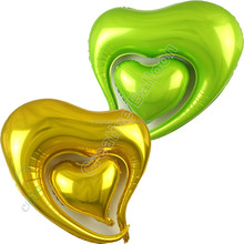 Metallic Heart shape helium Inflatable Foil Balloons party Decoration