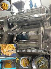 Mango peeling stoning and pulping machine