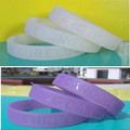 Ultraviolet silicone wrist bands, UV silicone bracelets changed color under sunlight