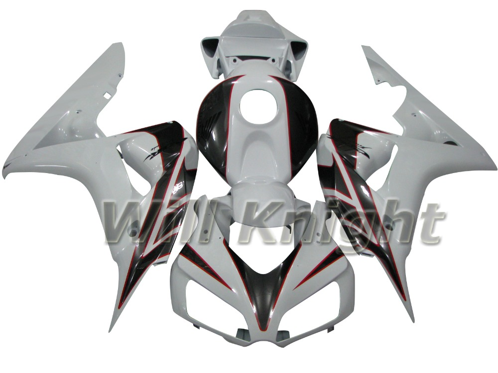 Injection Mold Body Work Kit for Honda CBR1000RR CBR 1000RR 2006 2007 White Black