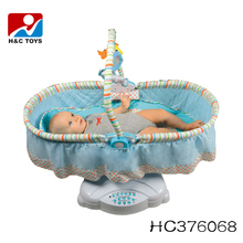 High quality adjustable electric swing baby crib with mosquito net HC376068