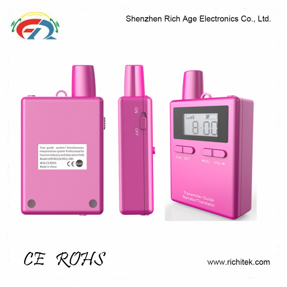 2017 Popular selling 100 mile pink walkie talkie from Shenzhen OEM factory with high quality