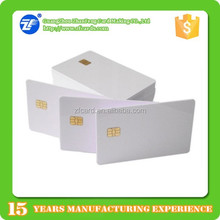 white high quality pvc contact 24C08 chip 8kbit card