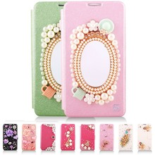 Fancy pearl phone case,phone cover for iphone case with mirror