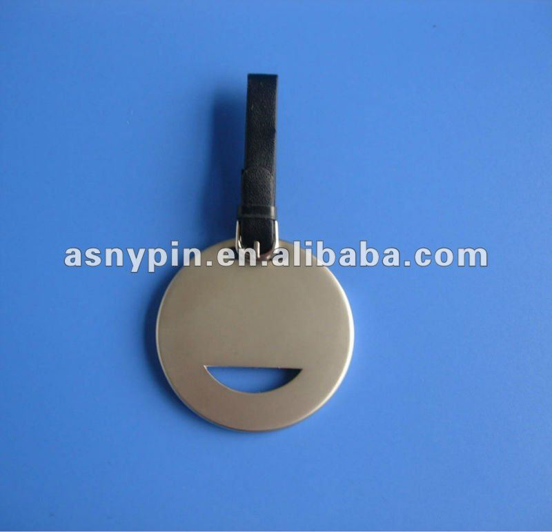 Zinc alloy travel bag tag with laser logo