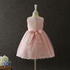 Hot sale girl party wear western kids clothes girls dresses pink cheap price Canton wholesaler