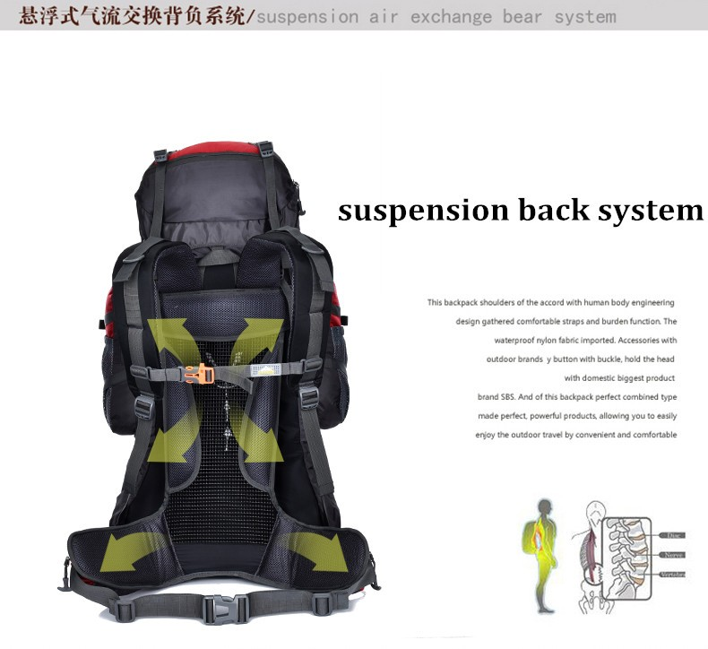 large capacity fashion style outdoor camping tactical survival backpack