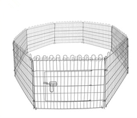Foldable wire pet kennel