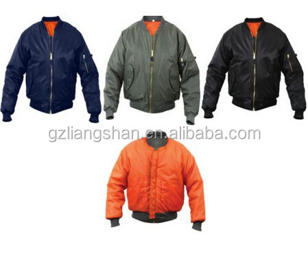 OEM Factory Wholesale Cheap Mens Air Force Military Reversible Bomber Short Jacket Flight Coat Jacket