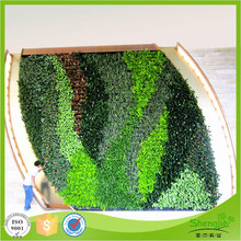 UV protected ornamental plastic plant artificial green walls for outdoor