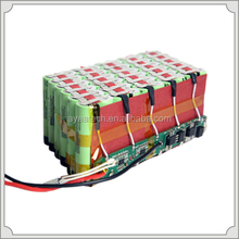 customised 10s6p 37V 20.4AH lithium battery pack for electric bike