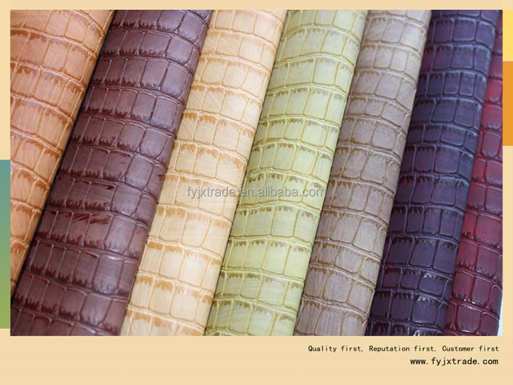 fabric imitation crocodile skin leather for handbag