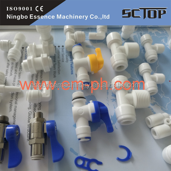 Misting cooling systems fittings Pneumatic Metal Straight Male Adaptor Push in Fittings BSPT Thread PNEUTOP high qualit