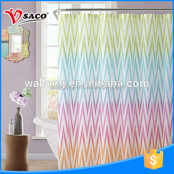 Soft to the touch PEVA shower curtain design for bathroom