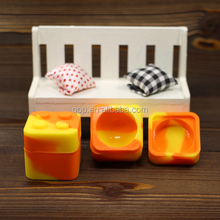 Square shape cuber 9ml lego Non stick food grade vaporizer pen essential oil silicone dab oil rigs jar dab wax dabber containers