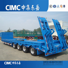 CIMC Special Large and Customized Heavy Haulers Lowbed Trailers For Heavier and Taller Cargoes