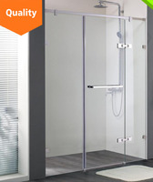 3 panel shower door for swing shower enclosure