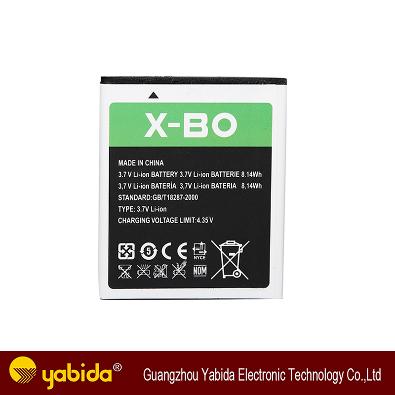 China's production of wholesale good quality mobile phone battery for X-BO v3+ 2200mAh made in China