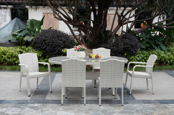 synthetic resin rattan wicker dining chair and table, cheap restaurant tables chairs,