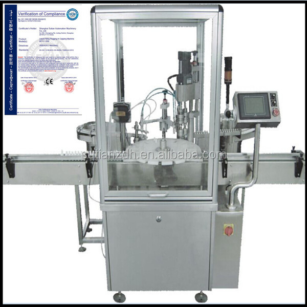 automatic 10ml cigarette liquid filling plugging-in capping labeling machine shanghai manufacturer