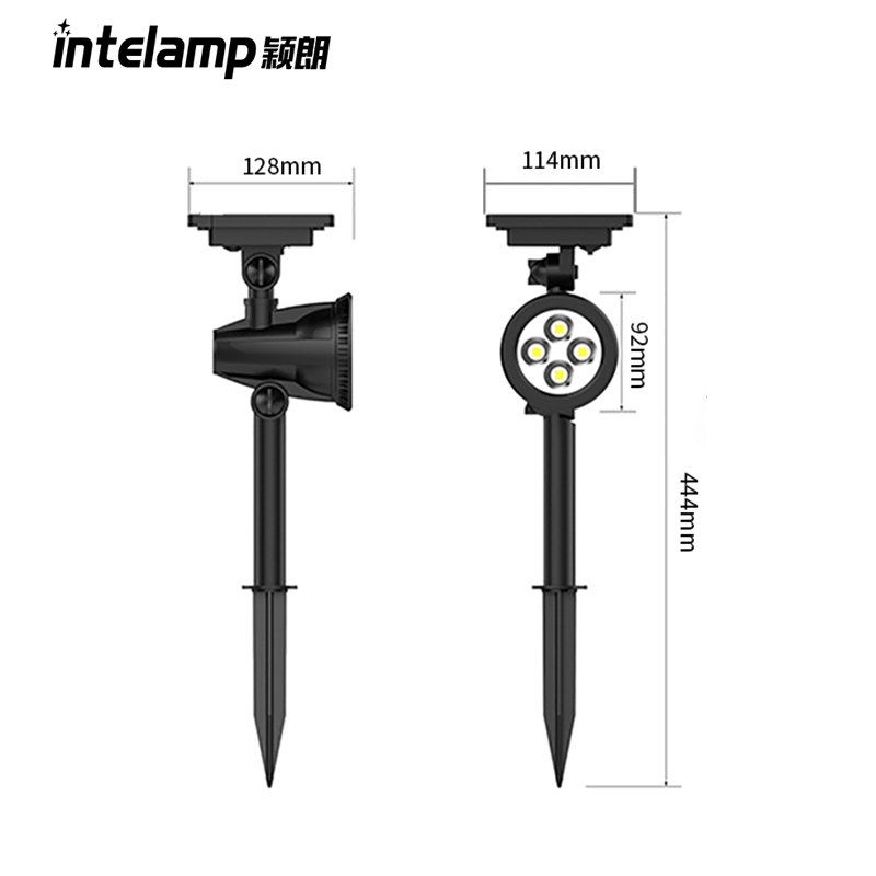 solar fence light Waterproof 4 LED Solar Spotlight Adjustable Wall Light Landscape Light Security Lighting Dark Sensing Aut