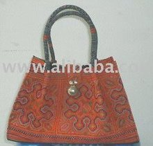 hill tribes woven fabric ladies handbag, hilltribe design handbag