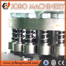 high-speed hydraulic plastic caps compression molding machine joint together with folding machine for beverage industries