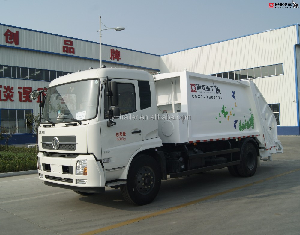 2Ton 8 Volume Tank Waste Refuse Collector Compactor Garbage Truck
