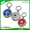 Winho round simple touch led key chain