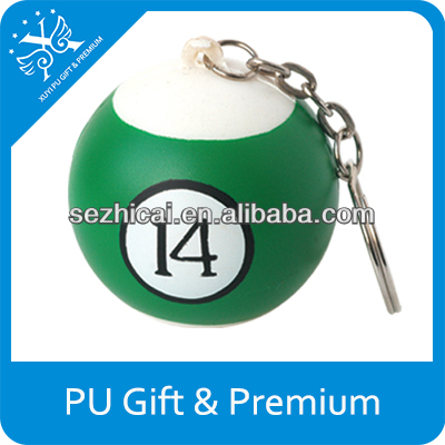 PU unusual numbered stress ball pu squishy toys billiards toys ball lighted billiard balls