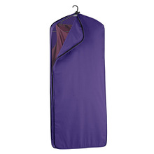 1GM0050 Customize Purple Damp-Proof Polyester Full Length Side Zipper Cloth Garment Cover Bag For Suit