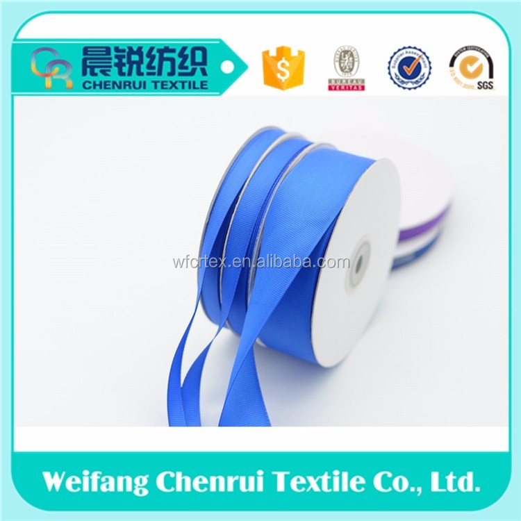 colorful double face polyester grosgrain ribbon tape