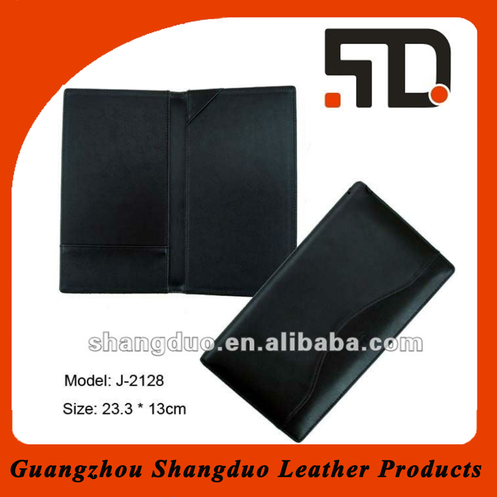 Hot Selling Good Quality Fashion Leather File Holder With Wave Strip On Cover