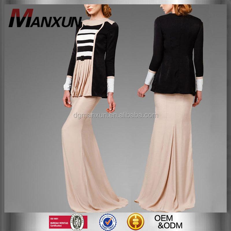 Fashion New Style Muslim Ladies Clothing Malaysia Baju Kurung Modern Beautiful Satin Baju Kurung