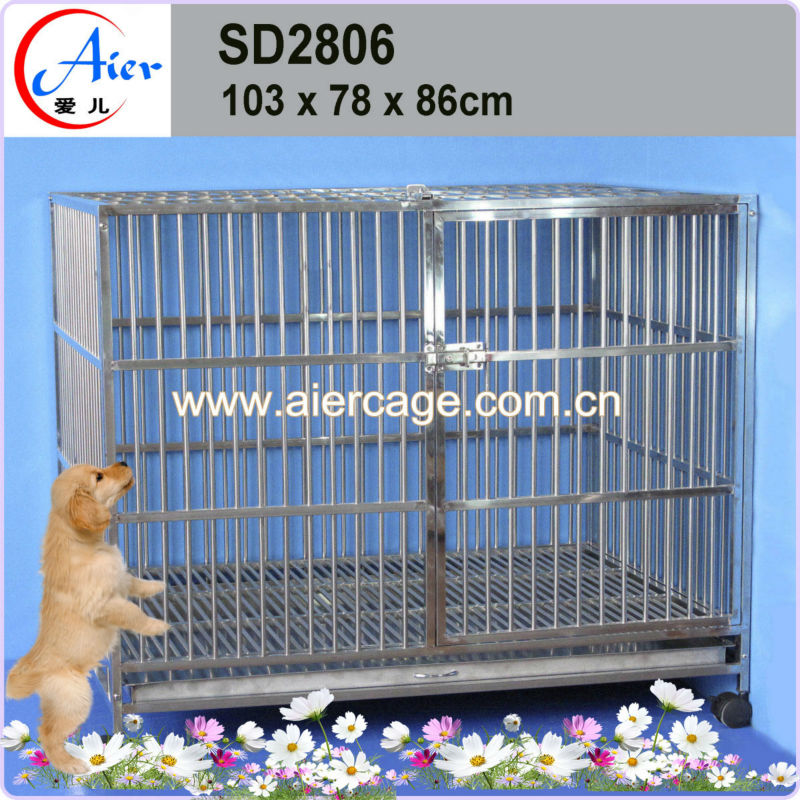 dog kennel stainless steel cage of good quality