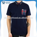 China factory blank combined plaid polo t shirt for men wholesale