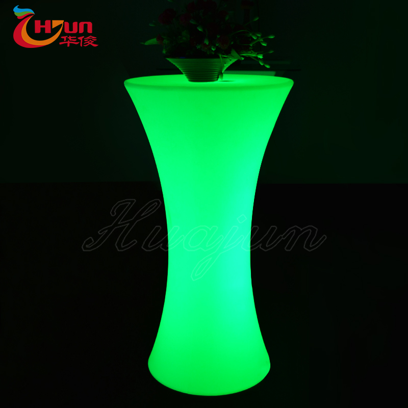 outdoor waterproof tall illuminated led cocktail table, table led for sale