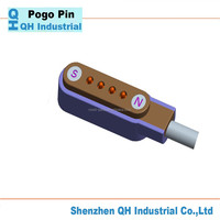 3 Pin Battery Connector With 2.5 Mm Spring Pin Or Pogo Pin As Electronic Connector For Data Transition Or Charging