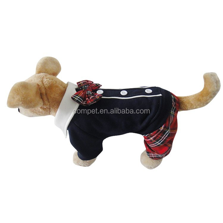 Wholesale Japan and Korea Style Bow Tie School Couples Dress for Male Dogs